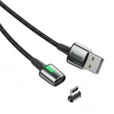 Кабель USB-Lightning Baseus Zinc Fabric Magnetic CALXC-B01 2m Black