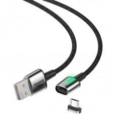 Кабель USB-MicroUSB Baseus Zinc Fabric Magnetic CAMXC-B01 2m Black