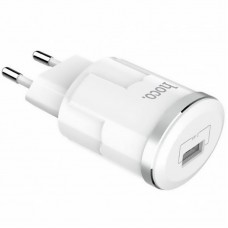 СЗУ 1USB Hoco C37A 2.4A + cable USB-Lightning White