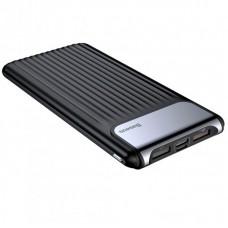УМБ Power Bank Baseus Thin QC3.0 M+T Dual input Digital LCD 10000mAh PPYZ-C01 Black