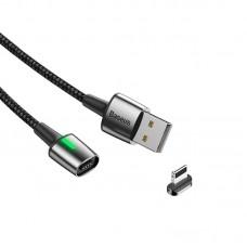 Кабель USB-Lightning Baseus Zinc Fabric Magnetic 2.4A 1m (CALXC-A01) Black