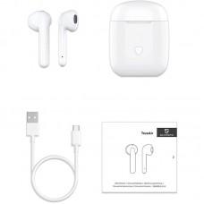 Наушники гарнитура вкладыши Bluetooth SoundPeats True Air White
