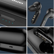Наушники гарнитура вакуумные Bluetooth Awei T10c Sport Black