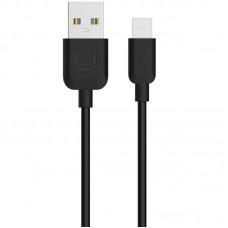 Кабель USB-Lightning Usams U-Turn IPXD2501 Black 0.25m