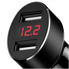 Адаптер автомобильный 2USB Usams С1 LED 2.1A US-CC045 Black