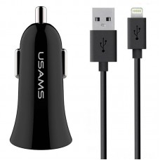 АЗУ 2USB Usams С13 2.1A + cable USB-Lightning NTU35LC13TZ Black