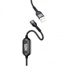 Кабель USB-Lightning Usams US-SJ423 Timing Digital Dispaly U48 Black 1.2m
