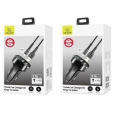 АЗУ 2USB Usams С13 2.1A + cable USB-Type-C NTU35TC13TZ Black