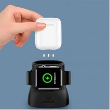 Держатель и док-станция Usams ZJ051 Apple Watch + AirPods Black ZJ51ZJ01