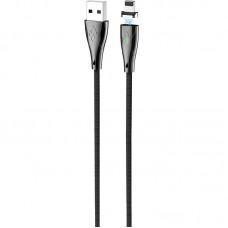 Кабель USB-Lightning Hoco U75 Blaze Magnetic 1.2m Black