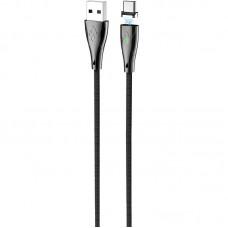Кабель USB-Type-C Hoco U75 Blaze Magnetic 1.2m Black