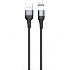 Кабель USB-Lightning Magnetic Usams U28 2.4A 1m Silver