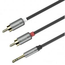 Кабель Audio 3.5мм-RCA 1m Hoco UPA-10 Grey