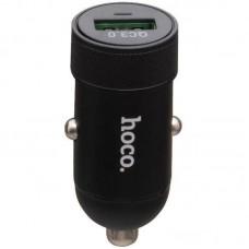 Адаптер автомобильный 1USB Hoco Z32 QC3.0 Black 4A