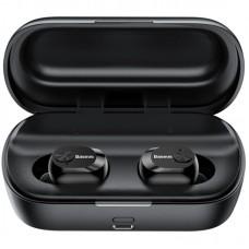 Наушники гарнитура вакуумные Bluetooth Baseus W01 Black