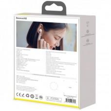 Наушники гарнитура вакуумные Bluetooth Baseus W07 White
