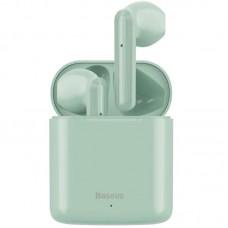 Наушники гарнитура вкладыши Bluetooth Baseus W09 Green