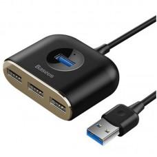 USB HUB Baseus USB-USB Square Round 4USB (CAHUB-AY01) Black