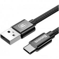 Зарядное устройство автомобильное 2USB Baseus Small Screw + cable USB-Type-C 3.4A (TZXLD-B01) Black
