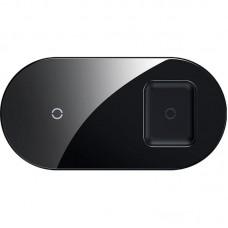 Беспроводное зарядное устройство Baseus Simple 2 в 1 Phone + Pods WXJK-A01 Crystal Black