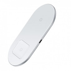 Беспроводное зарядное устройство Baseus Simple 2 в 1 Phone + Pods WXJK-02 White