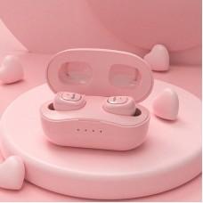Наушники гарнитура вакуумные Bluetooth OneDer TWS-W13 Pink