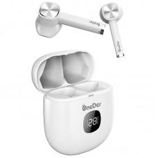 Наушники гарнитура вкладыши Bluetooth OneDer TWS-W16 White
