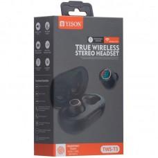 Наушники гарнитура вакуумные Bluetooth Yison TWS-T3 Black