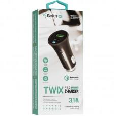 Адаптер автомобильный Gelius Pro Twix QC GP-CC006 2USB 3.1A Black