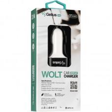 Зарядное устройство автомобильное Gelius Pro Wolt LCD GP-CC005 2USB 3.1A + cable USB-Lightning Black