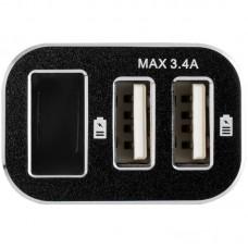 Зарядное устройство автомобильное Gelius Pro Wolt LCD GP-CC005 2USB 3.1A + cable USB-Type-C Black