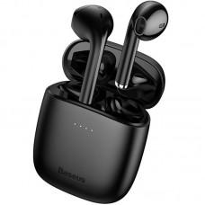 Наушники гарнитура вкладыши Bluetooth Baseus W04 Black