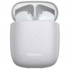 Наушники гарнитура вкладыши Bluetooth Baseus W04 White