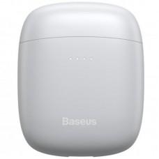 Наушники гарнитура вкладыши Bluetooth Baseus W04 Pro White