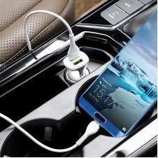 Зарядное устройство автомобильное 2USB Hoco Z31 QC 3.0 + cable USB-Type-C 3.4A White