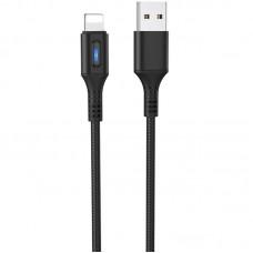 Кабель USB-Lightning Hoco U79 Admirable Smart Power 1.2m Black