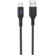 Кабель USB-MicroUSB Hoco U79 Admirable Smart Power 1.2m Black