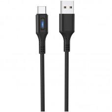 Кабель USB-Type-C Hoco U79 Admirable Smart Power 1.2m Black