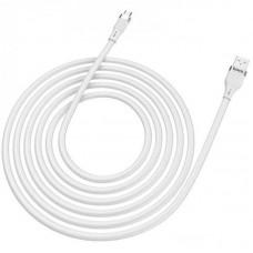 Кабель USB-MicroUSB Hoco U72 Forest Silicone 1.2m White