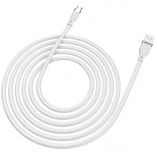 Кабель USB-Type-C Hoco U72 Forest Silicone 1.2m White