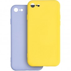 Чехол накладка TPU 2 в 1 Krazi Lot Full Soft для iPhone 7 8 Violet/Yellow