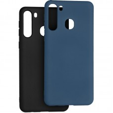 Чехол накладка TPU 2 в 1 Krazi Lot Full Soft для Samsung A215 A21 Black/Blue