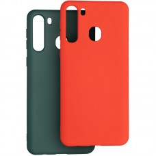Чехол накладка TPU 2 в 1 Krazi Lot Full Soft для Samsung A215 A21 Green/Red