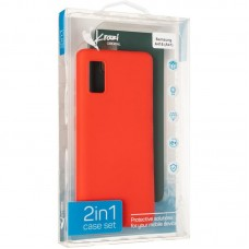 Чехол накладка TPU 2 в 1 Krazi Lot Full Soft для Samsung A415 A41 Green/Red