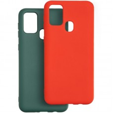 Чехол накладка TPU 2 в 1 Krazi Lot Full Soft для Samsung M315 M31 Green/Red