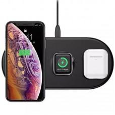 Беспроводное зарядное устройство Baseus Smart 3in1 WX3IN1-B01 18W Black