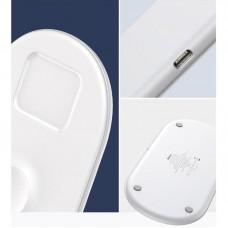 Беспроводное зарядное устройство Baseus Smart 3in1 WX3IN1-B02 18W White