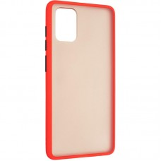 Чехол накладка PC Gelius Bumper Mat для Samsung A715 A71 Red