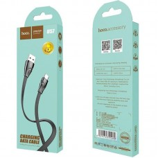 Кабель USB-MicroUSB Hoco U57 Twisting 1.2m 2.4A Black