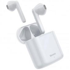 Наушники гарнитура вкладыши Bluetooth Baseus W09 White